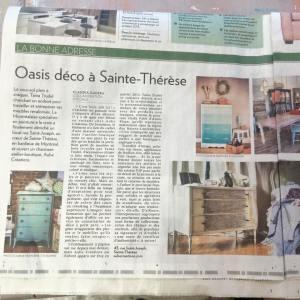 Les créations Aube design La Presse Janvier 2015