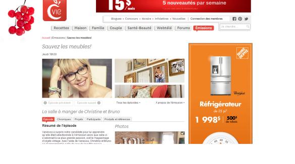 Présentation de Aube design dans l'émission du 31 janvier 2014 - Sauvez les meubles Canal Vie