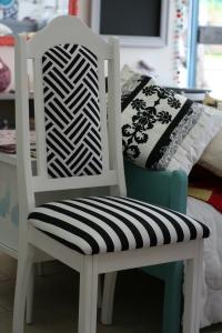 Chaise déco Noire et Blanche