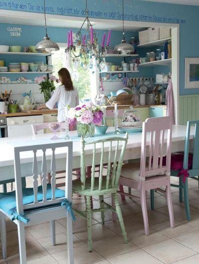 couleur pastel - cuisine- l'inspiration d'Aube design