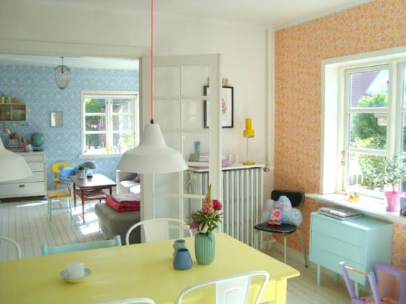 couleur pastel - living room lumineux - l'inspiration d'Aube design