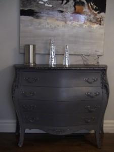 Création personnalisée Aube design - meuble gris charcoal