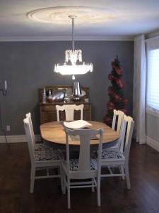 Relooking salle à manger - meuble peint création Aube design