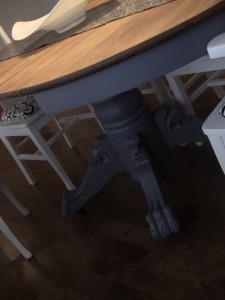Table pattes de lion modernisée - Création Aube design