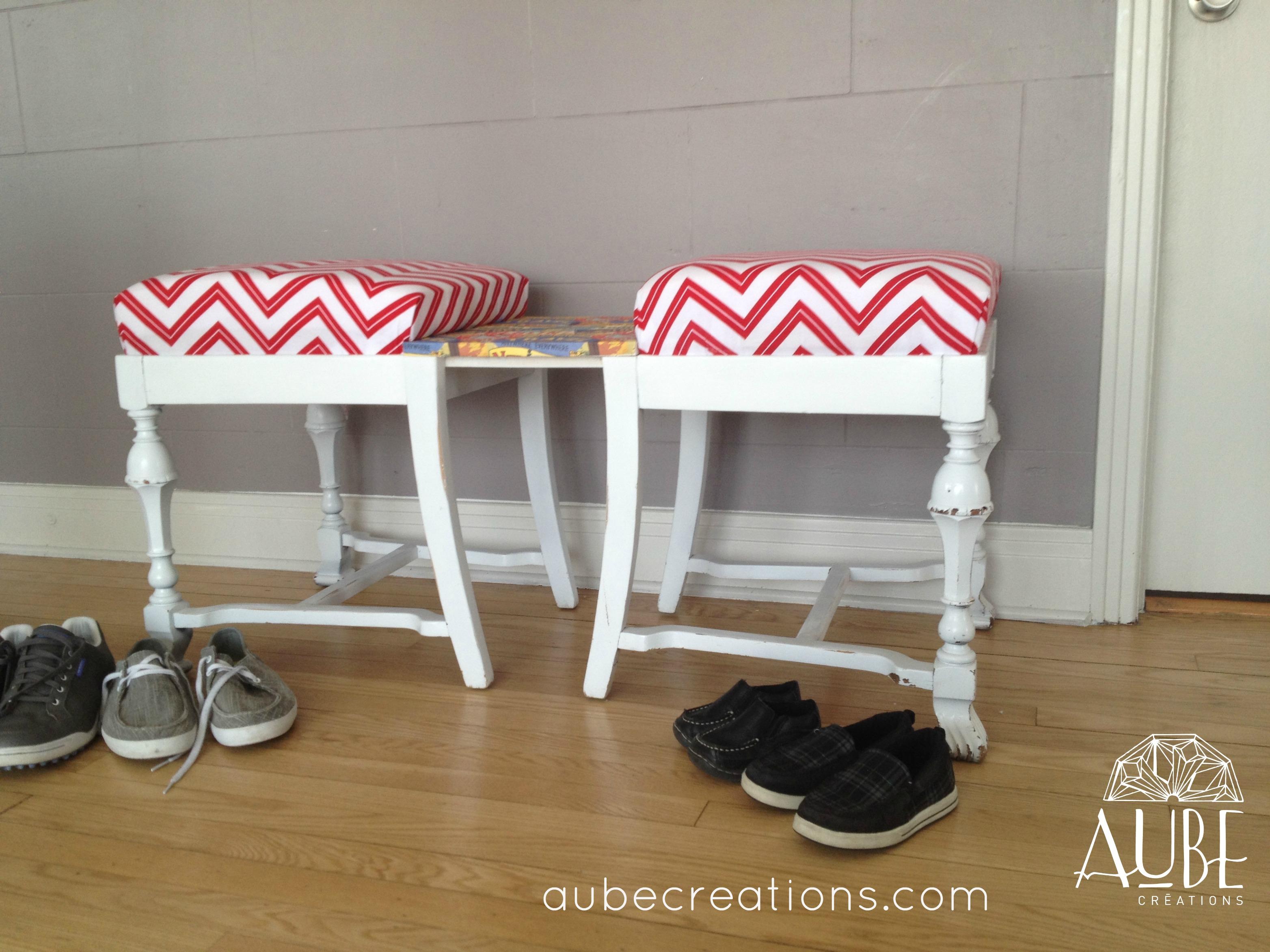 Transformation vieille chaise blogue cr ations aube design for Vieille chaise en bois