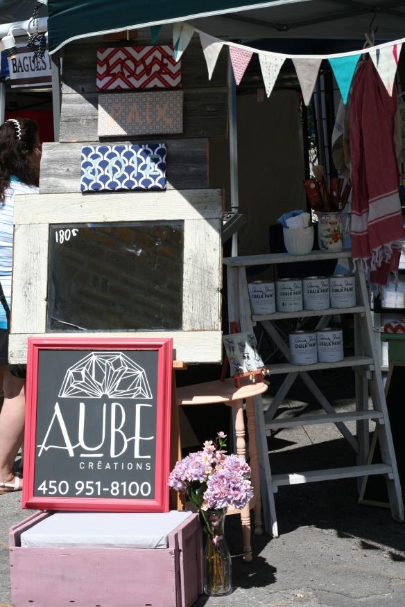 Kiosque Aube Créations - Semaine des artisans 2014 - Chalk Paint ™ Annie Sloan
