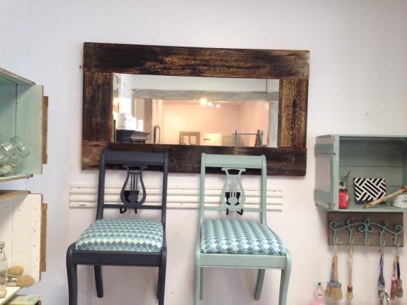 miroir décoratif bois de grange