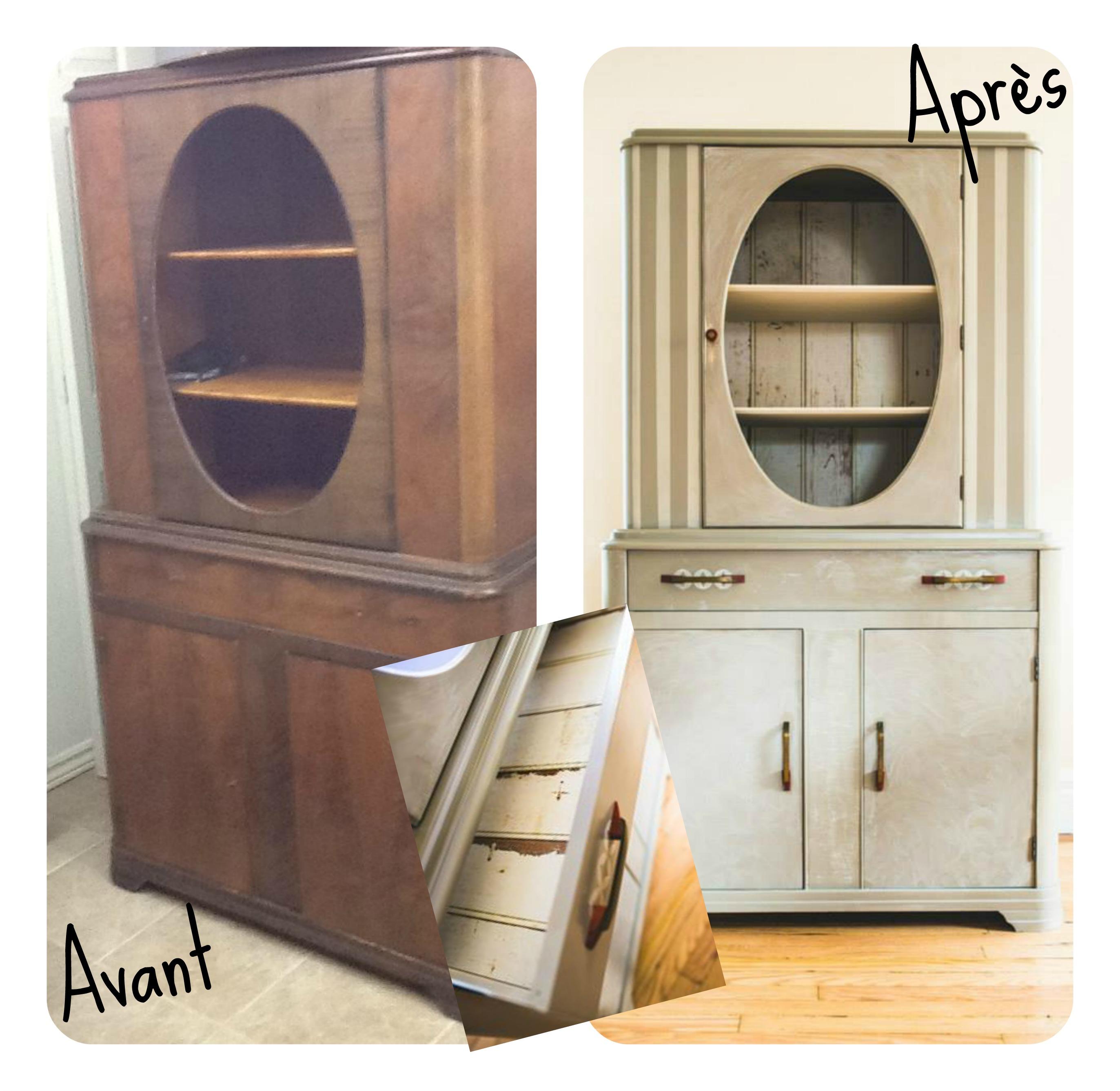 Comment peindre un meuble blogue cr ations aube design for Peindre un meuble cire