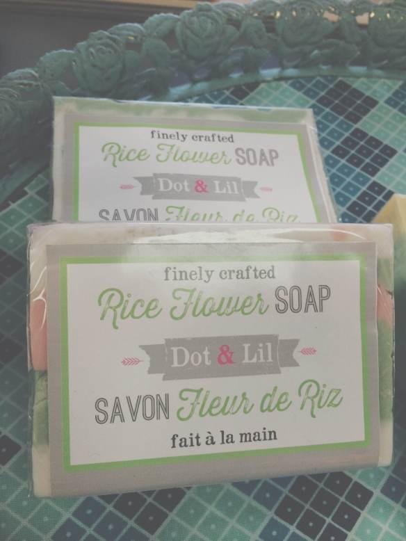savon parfumé fleur de riz