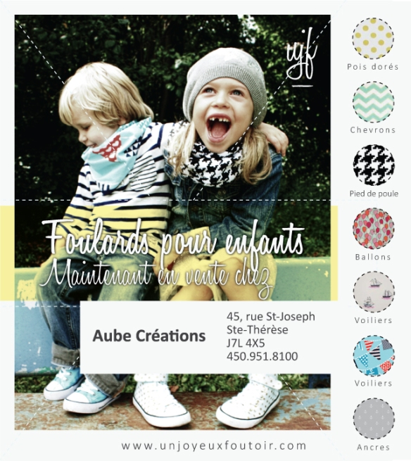 foulard à motif pour enfant