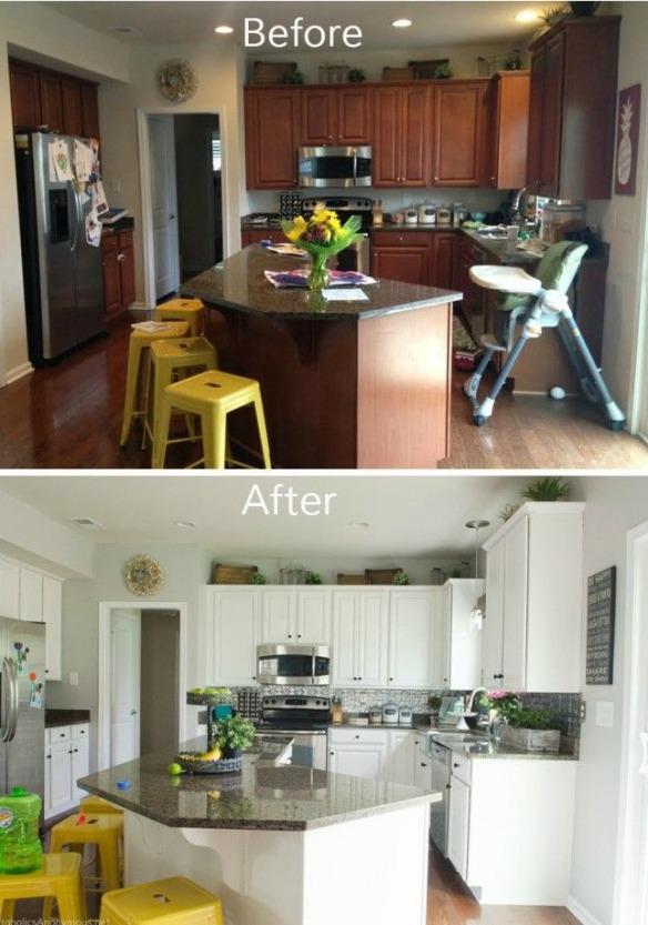 avant apres cuisine peinte