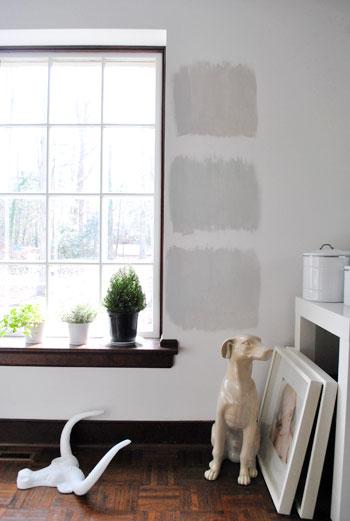 test de gris sur mur