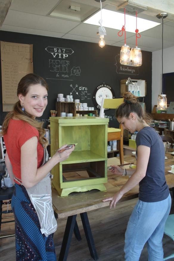 Tania Trudel et son équipe peuvent vous accompagner dans tous les projets avec la peinture décorative Annie Sloan chalk paint™