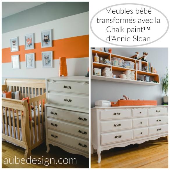 chambre de bébé transformée avec la chalk paint™ Annie Sloan et Aube créations Crédit photo: marie-éeve Rompré