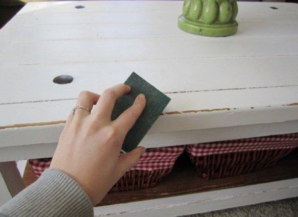 papier sablé meuble